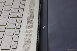 Ventilation grilles are directed upwards toward the screen instead of the edges of rear of the notebook