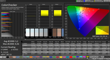 CalMAN: Color Accuracy – sRGB target color space