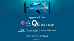 The LG Q6 aims to offer premium features at a relatively affordable price. (Source: Amazon)