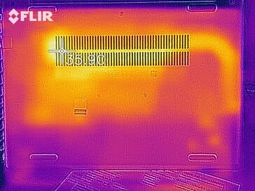 Heat map when idling - bottom side