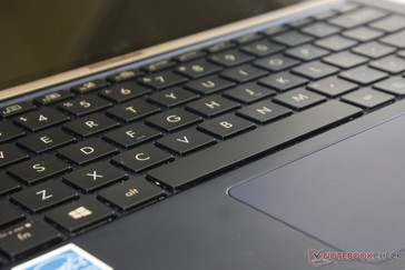Key feedback is agreeable, but the trackpad clicks could have been firmer. 1.4 mm key travel