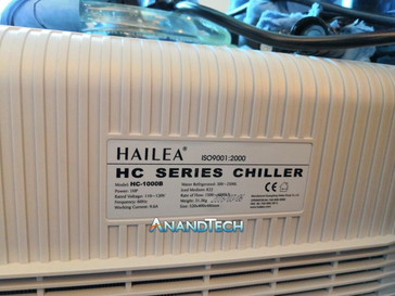 The water chiller used in the demo system (Source: Anandtech)