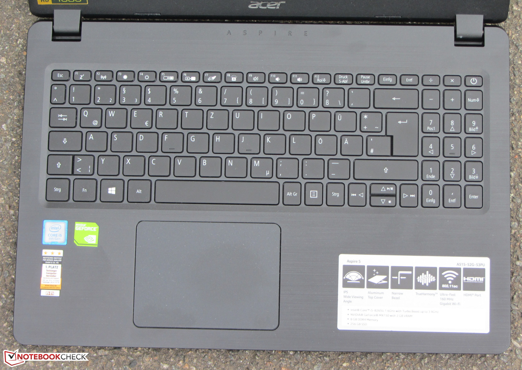 Acer Aspire 5 A515-52G (i5-8265U, MX150, SSD, FHD) Laptop