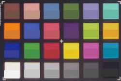ColorChecker colors; bottom represents the original color.