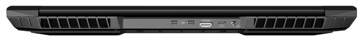 Back: 2x Mini DisplayPort, HDMI, USB 3.1 Gen 1 (Type-C), power