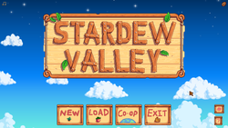 The Linux version of Stardew Valley running natively on a Chromebook.