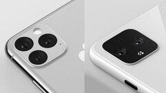 The Google Pixel 4 has been accused of being an iPhone 11 clone. (Image source: Twitter/Ben Geskin)