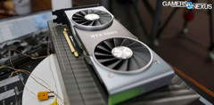 The new RTX 2080Ti features a new cooling solution, more CUDA cores than ever, and RTX technology. (Source: Gamers Nexus)