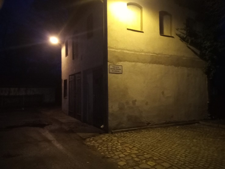 Photo taken with the rear-facing camera at night