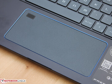 The trackpad is 14 cm wide, which is around 40% wider than most trackpads.