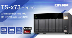 QNAP TS-x73 NAS with AMD RX-421ND processor (Source: QNAP Systems)