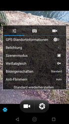 Default camera app – Settings