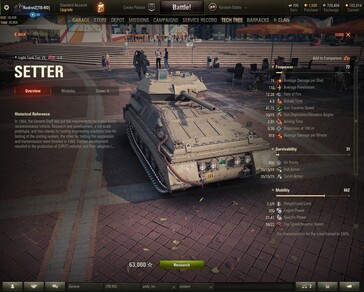 World of Tanks 1.6 Setter - tier VII British light tank (Source: Own)