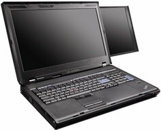 The ThinkPad W700DS with its built-in second display.