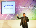 Anand Chanrasekher, Senior VP and GM, shows off the Centriq 2400. (Source: Qualcomm)