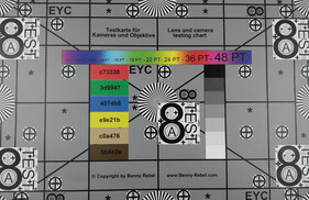 Photo of test chart