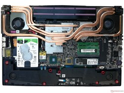 The cooling system in the MSI GP75 Leopard 9SD.