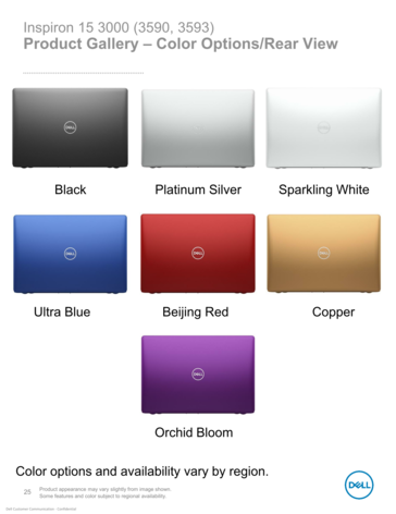 Seven Inspiron colors in all