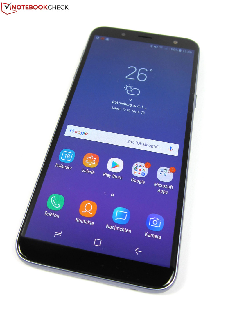 Samsung Galaxy J6 (2018) Smartphone Review - NotebookCheck