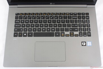 Single-zone backlit keyboard with fingerprint-enabled Power button