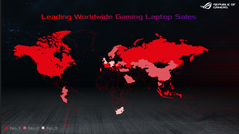 Asus leads many countries in gaming laptop sales.