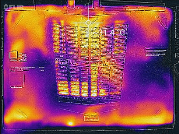 Thermal profile, bottom (idle)
