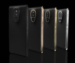 The extravagantly designed phones fetched an equally extravagant price tag (Source: Sirin Labs)
