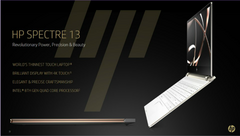The new HP Spectre 13 features upgraded internals and a redesigned chassis (Source: HP)