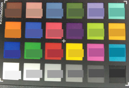 ColorChecker: lower half shows the reference color