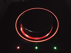 Creative Sound Blaster X3 in the dark - microphone volume setting mode (Source: Own)