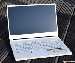 The MSI P65 Creator 8RF in the white special edition