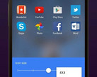 Microsoft Arrow Launcher Icon layout settings page, version 3.8.0 now available
