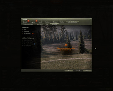 World of Tanks 1.0 map border settings