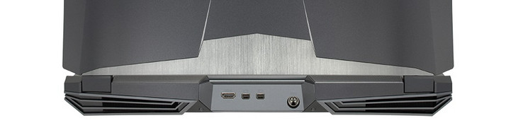 Rear: HDMI 2.0, 2x mini DisplayPort 1.3, AC adapter