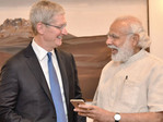 Apple CEO Tim Cook previously met with Indian PM Narendra Modi in 2016 to discussion manufacturing. (Source: India Express)