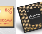 Qualcomm Snapdragon 865 vs. MediaTek Dimensity 1000. (Image source: Gizguide/AnandTech - edited)