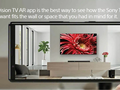 Virtually test out a Sony TV in your house with its new app. (Source: Sony)