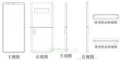 "The ""Xiaomi clamshell foldable"" patent. (Source: TigerMobiles)"