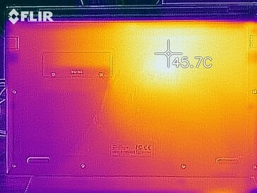 Thermal imaging under load - bottom side