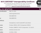 Samsung Galaxy A8 Star SM-G885F/DS Interoperability Certificate (Source: Wi-Fi Alliance)