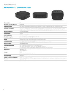 Chromebox G2 spec sheet