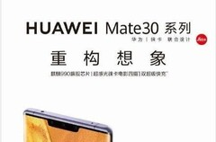 This poster purports to show the Huawei Mate 30. (Source: Twitter)