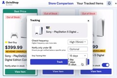 OctoShop should help users obtain a PS5 from a major retailer. (Image source: InStok - edited)