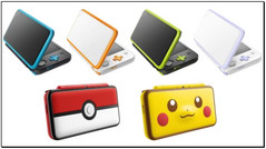 Nintendo new 2DS XL console color options. (Source: Nintendo)