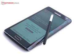 The Samsung Note Edge was praised for its innovative design.