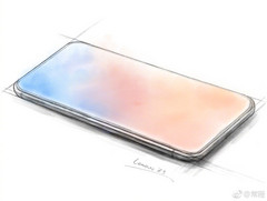 Sketch of the Lenovo Z5. (Source: Weibo)