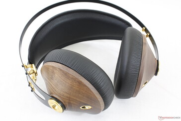 The earpieces are made of real matured wood with cast zinc inside