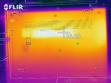 Thermal image during idle - Bottom