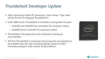 Thunderbolt 4 uses the new 8000 series controllers for PCs and accessories. (Source: Intel)
