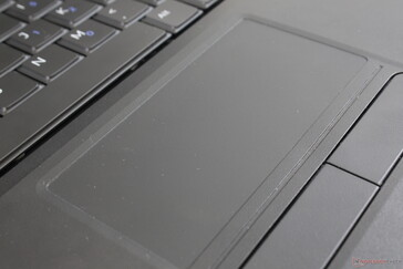 Clickpad surface is rougher than most other laptops and it's more difficult to use